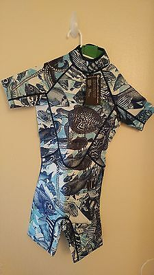 Scorching Bay Youth Shortie Wetsuit Ocean Animal Print 8-10 Yrs