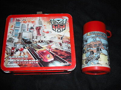 1986 Transformers Lunch Box & Thermos * Vintage *