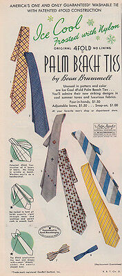 1953 Palm Beach Ties: Beau Brummell, Ice Cool Frosted (28033) Print Ad