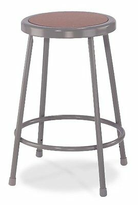 National Public Seating Steel Stool with 30in Hardboard Seat Grey Pack of 3