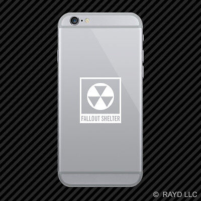 (2x) Fallout Shelter Symbol Cell Phone Sticker Mobile Nuclear Radiation colors