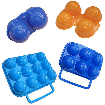 Portable 2/6/12 Egg Container Holder Food Storage Box Case Folding Camping Carry