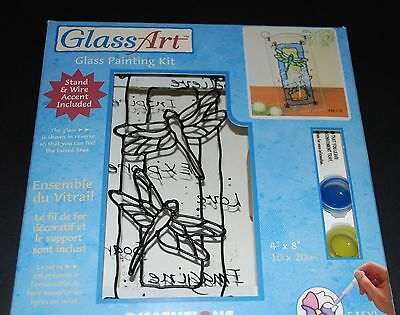 Dimensions Glass Painting Kit 'Slender Dragonflies'-10x20cms with Stand