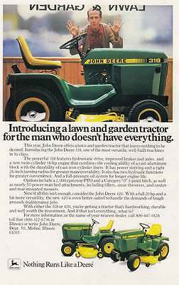 1983 John Deere: Man Who Doesn't Have Everything (17629) Print Ad
