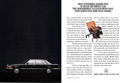 1987 Mercedes-Benz S-Class: Many Automobile Makers Itch (9156) Print Ad