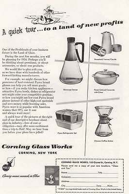 1953 Corning Glass Works: Quick Tour (15411) Print Ad