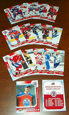 2015-16 Upper Deck National Hockey Card Day Canada 17-Card Complete Set