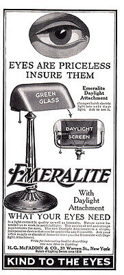 1920 Emeralite: Eyes Are Priceless Insure Them (26181) Print Ad