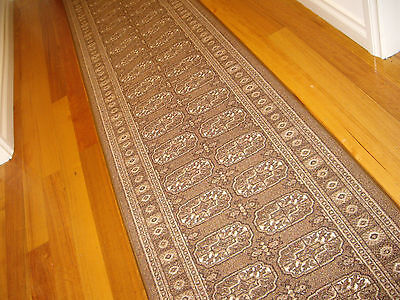 Hallway Runner Hall Runner Rug 6 Metres Long Modern Brown Beige FREE DELIVERY