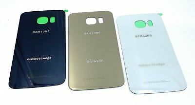 Original Quality Glass Battery Cover  Back Door For Samsung Galaxy S6 Edge G925
