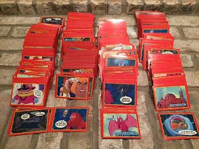 1984 Topps Masters of the Universe He-Man 1984 Trading Card Lot 1000+
