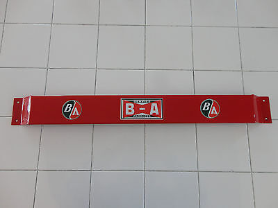 Door push bar antique vintage B/A British American gasoline advertising sign