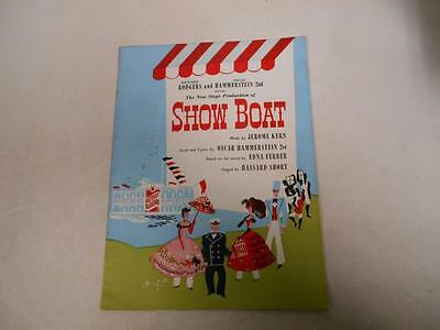 Show Boat Musical Souvenir Program with Billy House Pamela Caveness 1948