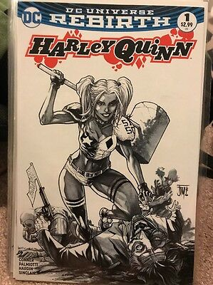 Harley Quinn #1 The Comic Mint Sketch Variant Cover