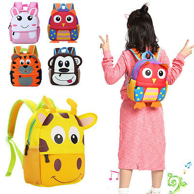 Lovely 3D Cartoon Animal Toddlers Kids Children Boys&Girls School Bags Backpacks
