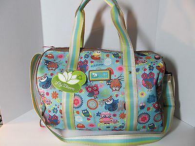 "LILY BLOOM ""OWL LOVE YOU ALWAYS"" Collection  Duffle Bag, Travel Overnight, NWT"