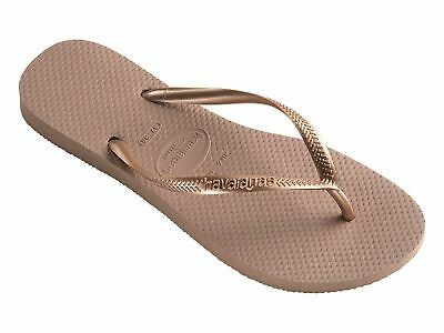HAVAIANAS SLIM ROSE GOLD Thongs Sandals WOMENS FREE POST Flip Flops HSMS3581F