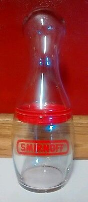 Smirnoff Cocktail Shaker Bowling Pin Shape 2 Piece Bar Glass Mint Condition