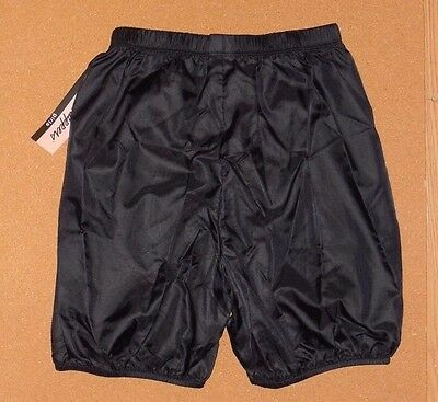 NWT BODY WRAPPERS 046 Black Bloomer Ripstop 100%  Nylon Shorts Girls  size 12-14
