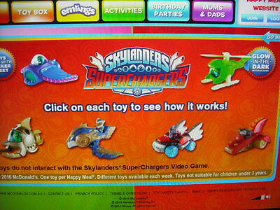 Skylanders Superchargers Mcdonalds Full Set Of 6 Toys Happy Meals 2016