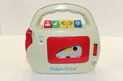 1992 Fisher Price Vintage Cassette Player & Recorder Mic Model 3800 tested good