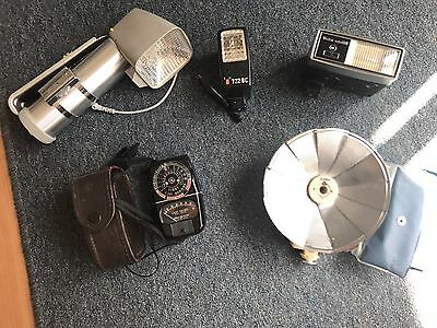 Lot of Camera flashes and Accessories