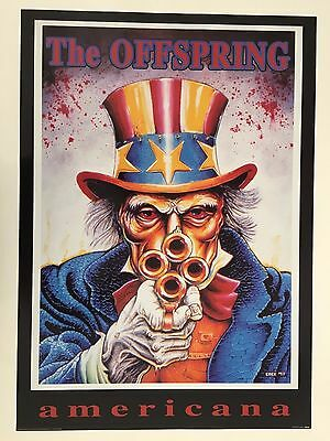 OFFSPRING,THE OFFSPRING AMERICANA BY EMEK,RARE AUTHENTIC 1990's POSTER