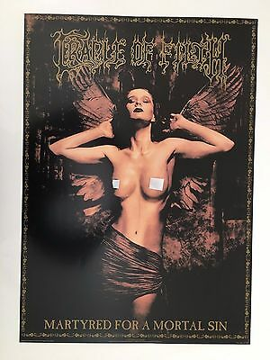 Cradle Of Filth,martyred For A Mortal Sin,rare Authentic Licensed 1997 Poster