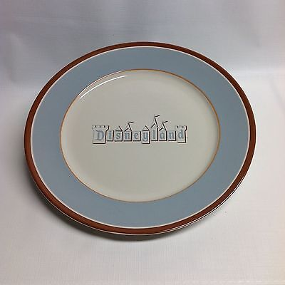 Disneyland retro dinner plates blue and brown