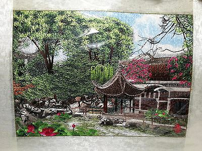 1pc Finished Cross Stitch ---Spring house for home decoration
