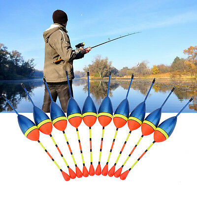 10Pcs/Set Carp Fishing Float Bobbers Freshwater Saltwater Floating Tackle Tool