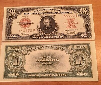 Copy Reproduction 1923 $10 Poker Chip US Paper Money Currency Note