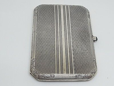 Antique Solid Silver 935 Ladies Card Case With Sapphire