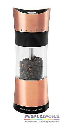 NEW COLE & MASON COPPER PEPPER MILL Mill Grinder Grind Shaker HORSHAM
