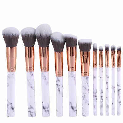 10Pcs Pro Makeup Cosmetic Brushes Set Powder Foundation Eyeshadow Lip Brush New