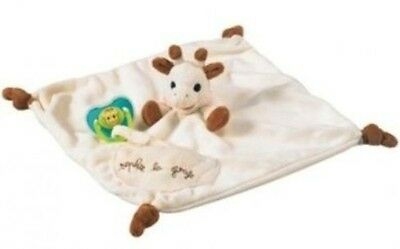 Vulli Sophie The Giraffe Comforter with Soother Holder