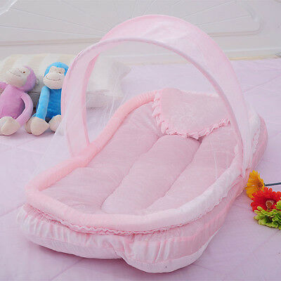 Baby Infant Foldable Travel Bed Crib Canopy Mosquito Net Tent Mattress Netting