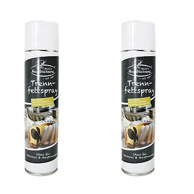 Hack Trennspray 600ml Dose ( 2er Pack ) Trennfett Grillspray Backtrennmittel