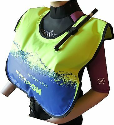 SNORKEL BUOYANCY VEST Adult Typhoon SNORKELING AID YELLOW BLUE SWIMMING DIVING