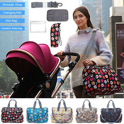 Multifunctional Mommy Bag Baby Diaper Mummy Changing Waterproof Nappy Bag IUK