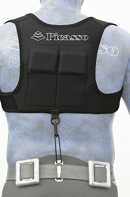 Spearfishing / Picasso / Picasso Weight Vest - Black XL/L Diving Snorkelling