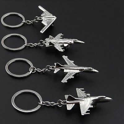 New Metal Military Weapon Tank Pistol Plane Model Keyring Key Chain New Special~