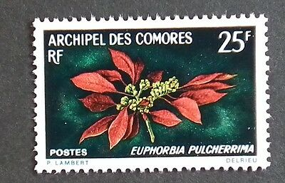 Comoros Island (1970) Flowers / Flora / Poinsettia / Spurges - Mint (MNH)