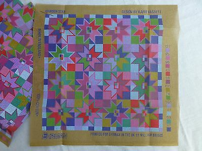 Ehrman / Kaffe Fassett - Crimson Star - needlepoint CANVAS  (several avail)