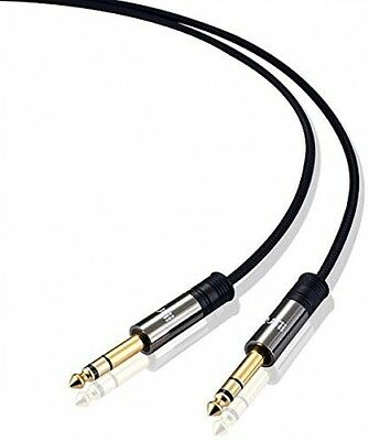 IBRA 6.3mm Instrument Guitar Cable 1m, 1/4' To 1/4' Speaker Cable 1m With Nylon