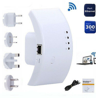 Repeater Expander Signal Booster US Plug New 300Mbps Wireless WiFi Range Router