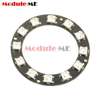 5050 12-Bit RGB LED Ring WS2812 Round Decoration Bulb Perfect For Arduino M