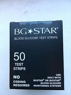 2 X Bg Star Blood Glucose Test Strips Box Of 50 Diabetic. Brand New & Sealed