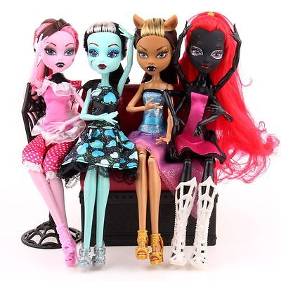 2017 Hot Kids Body Girls Monster Doll Elf Move Joints High Plastic Toys Gifts UK