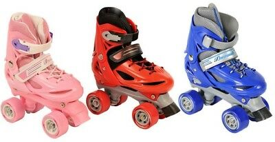 Boys Girls Roller Skates Kids Adjustable 4 Wheel Quad Skate Boots Adults Womens